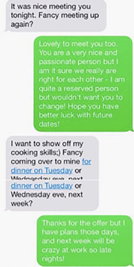 The Most Awkward Post-Tinder Date Text Conversations Ever | CCUK